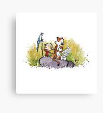 Exploring Calvin and Hobbes Canvas Print
