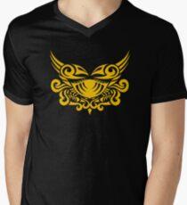 Zodiac Sign Cancer Gold Men's V-Neck T-Shirt