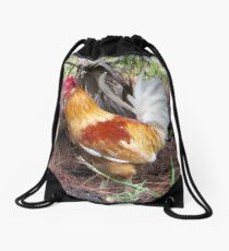 A Handsome Rooster Drawstring Bag