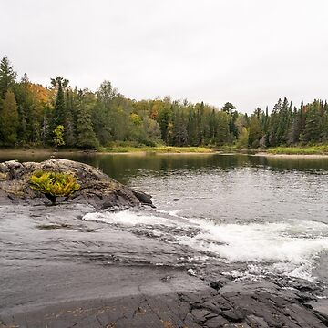 Serpent River Whitewater over Black Rocks by GeorgiaM