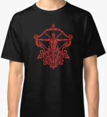 Zodiac Sign Sagitarius Red Classic T-Shirt