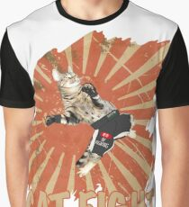 MMA Cat Fight Kitty Fighting Muay Thai Fighter Gift Graphic T-Shirt