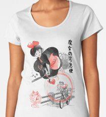 Delivery Service sumi-e Women's Premium T-Shirt