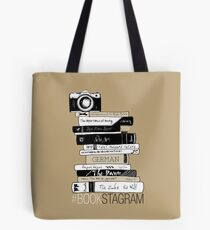 #BOOKSTAGRAM - Stack of Books (Beige) Tote Bag