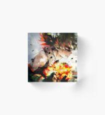 Der brennende Zorn von Bakugo Katsuki Acrylblock