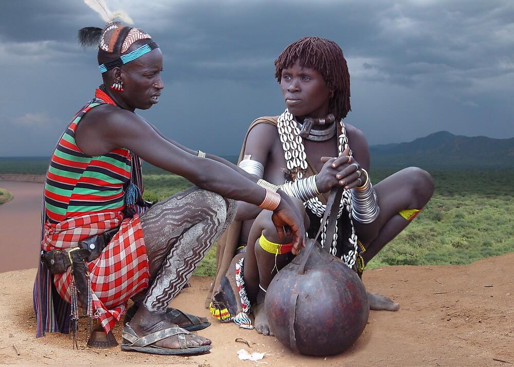 HAMAR COUPLE - ETHIOPIA by Michael Sheridan