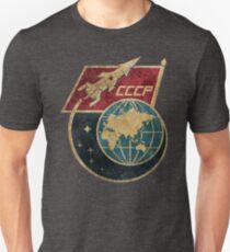 CCCP Flag Space Rocket Unisex T-Shirt