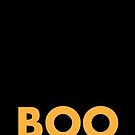 Boo minimal Halloween Kunst von blursbyai