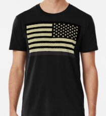 AMERICAN ARMY, Soldier, American Military, Arm Flag, US Military, IR, Infrared, USA, Flag, Reverse side flag, on BLACK Männer Premium T-Shirts