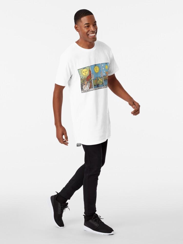 Vista alternativa de Camiseta larga Sun Moon Star Tarot