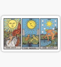Sun Moon Star Tarot Sticker