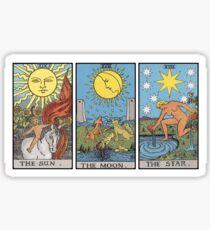 Sonnenmond-Stern-Tarot Sticker