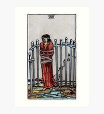 Eight of Swords Tarot Art Print
