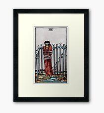 Eight of Swords Tarot Framed Print