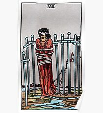 Eight of Swords Tarot Poster