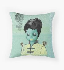 Miss Beijing Throw Pillow