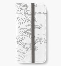 Ladies surfer iPhone Flip-Case/Hülle/Klebefolie
