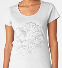 Ladies surfer Premium Rundhals-Shirt