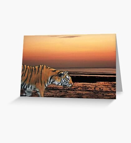 Twilight Tiger Greeting Card