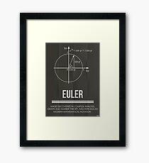 Lámina enmarcada EULER - Colección de matemáticos
