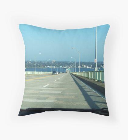 Jamestown Bridge Throw Pillow