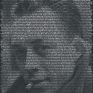 Albert Camus Quote Portrait by qqqueiru