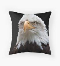 Bald Eagle portrait at the Hawk Conservancy Throw Pillow