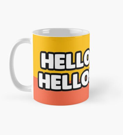 """""""Hello hello"""" and welcome to the Smashing Security mug Mug"""