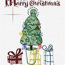 O Christmas Tree Card by Glenna Walker