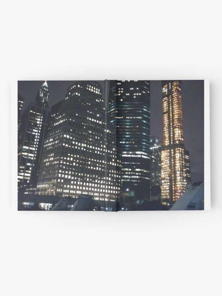 Alternate view of #skyscraper #city #architecture #business #cityscape #tallest #office #finance #dusk #tower #modern #sky #outdoors #horizontal # #colorimage #copyspace #builtstructure #downtowndistrict #urbanskyline  Hardcover Journal
