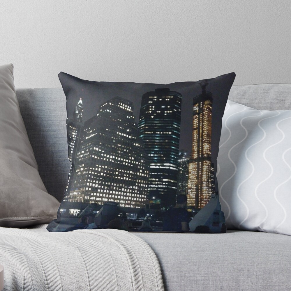 #skyscraper #city #architecture #business #cityscape #tallest #office #finance #dusk #tower #modern #sky #outdoors #horizontal # #colorimage #copyspace #builtstructure #downtowndistrict #urbanskyline  Throw Pillow