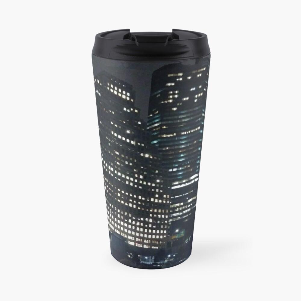 #skyscraper #city #architecture #business #cityscape #tallest #office #finance #dusk #tower #modern #sky #outdoors #horizontal # #colorimage #copyspace #builtstructure #downtowndistrict #urbanskyline  Travel Mug