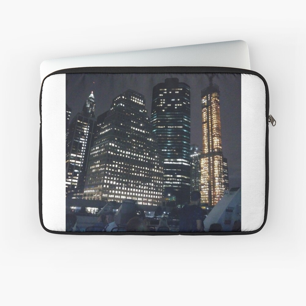 #skyscraper #city #architecture #business #cityscape #tallest #office #finance #dusk #tower #modern #sky #outdoors #horizontal # #colorimage #copyspace #builtstructure #downtowndistrict #urbanskyline  Laptop Sleeve
