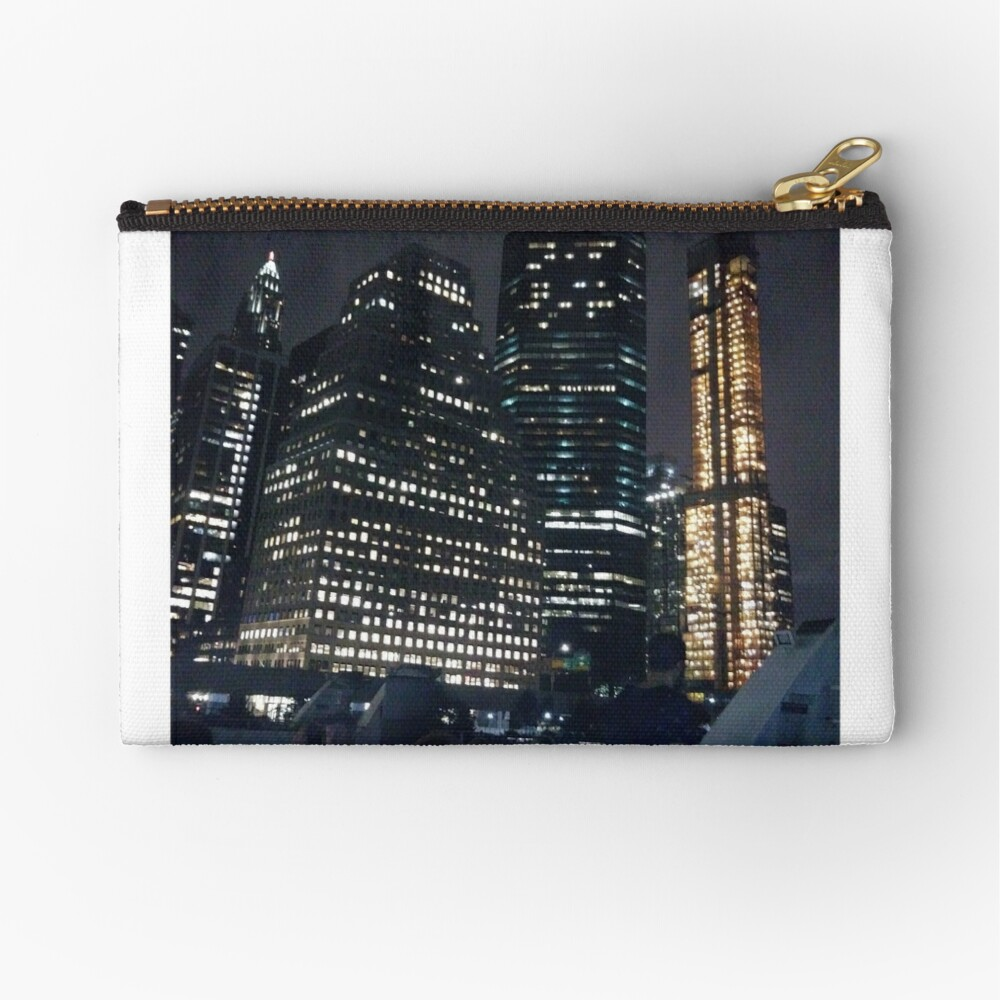 #skyscraper #city #architecture #business #cityscape #tallest #office #finance #dusk #tower #modern #sky #outdoors #horizontal # #colorimage #copyspace #builtstructure #downtowndistrict #urbanskyline  Zipper Pouch