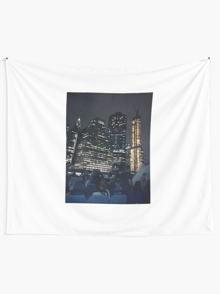Alternate view of #skyscraper #city #architecture #business #cityscape #tallest #office #finance #dusk #tower #modern #sky #outdoors #horizontal # #colorimage #copyspace #builtstructure #downtowndistrict #urbanskyline  Wall Tapestry