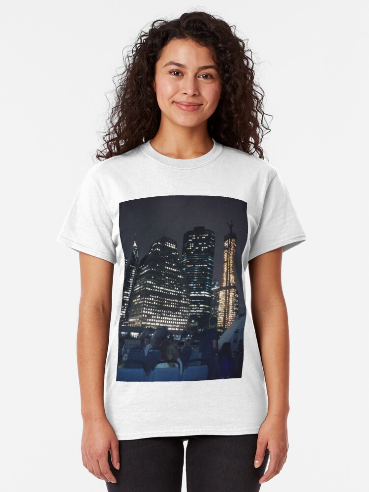 Alternate view of #skyscraper #city #architecture #business #cityscape #tallest #office #finance #dusk #tower #modern #sky #outdoors #horizontal # #colorimage #copyspace #builtstructure #downtowndistrict #urbanskyline  Classic T-Shirt