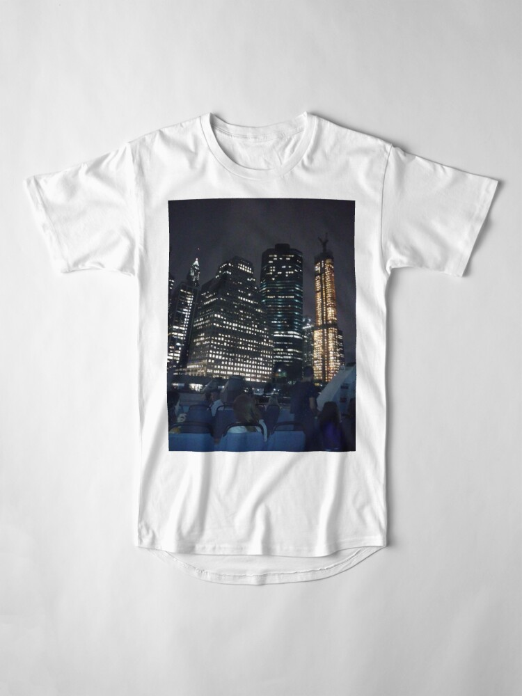 Alternate view of #skyscraper #city #architecture #business #cityscape #tallest #office #finance #dusk #tower #modern #sky #outdoors #horizontal # #colorimage #copyspace #builtstructure #downtowndistrict #urbanskyline  Long T-Shirt