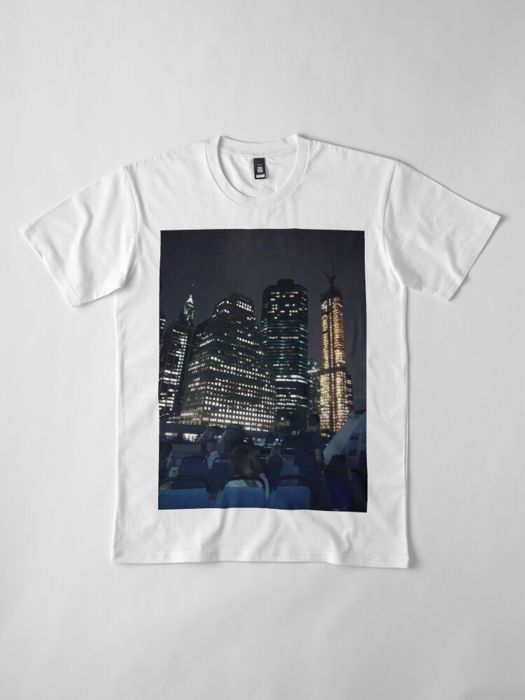Alternate view of #skyscraper #city #architecture #business #cityscape #tallest #office #finance #dusk #tower #modern #sky #outdoors #horizontal # #colorimage #copyspace #builtstructure #downtowndistrict #urbanskyline  Premium T-Shirt