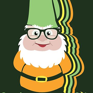 Funky Hipster Garden Gnome Pattern by ironydesigns