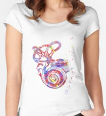 Ear anatomy, Inner ear, Cochlea Histology, Vestibular System Structure, Audiology Women's Fitted Scoop T-Shirt