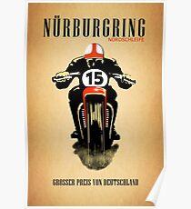 Vintage Nurburgring Nordschleife Poster