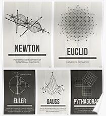 Mathematiker Mosiac Poster