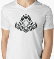 Zodiac Sign Virgo Black Men's V-Neck T-Shirt