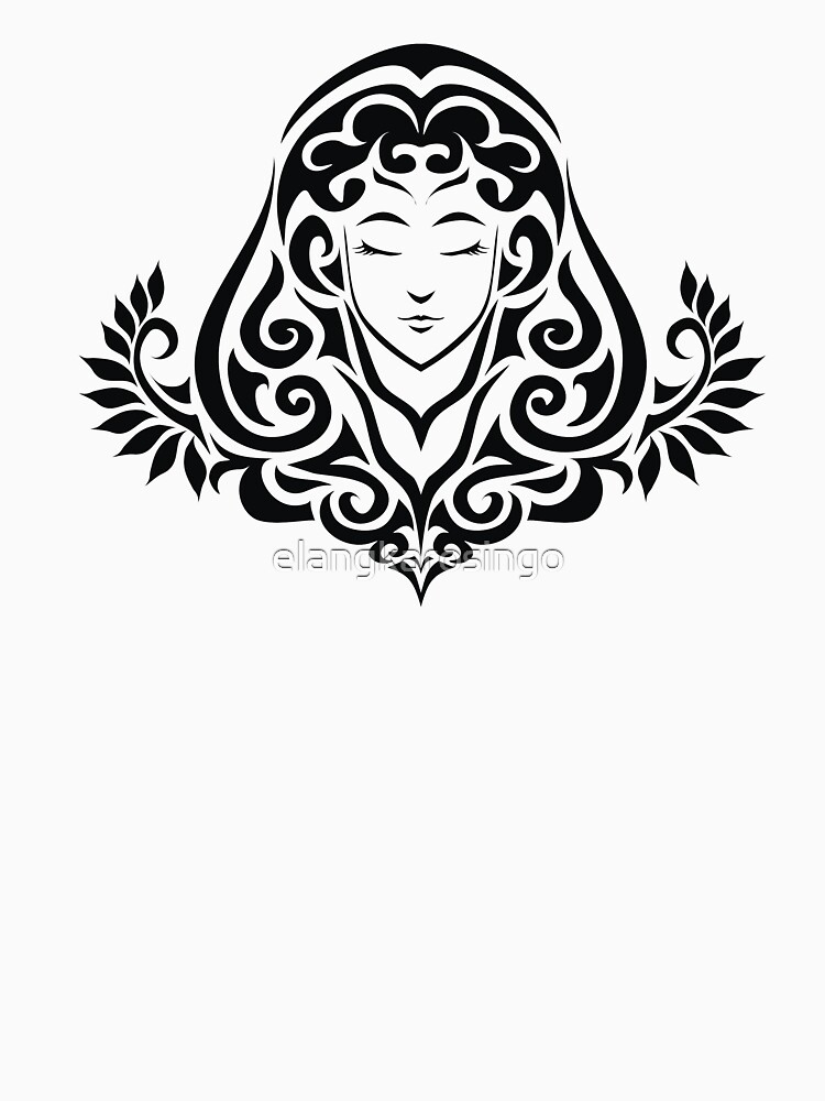 Zodiac Sign Virgo Black by elangkarosingo