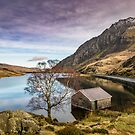 Lake and Moon Snowdonia  by Adrian Evans
