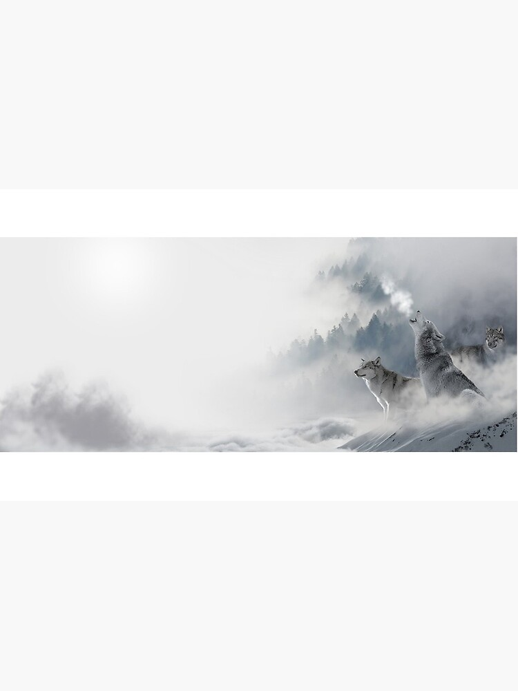 Wolves Snowscape by danbadgeruk