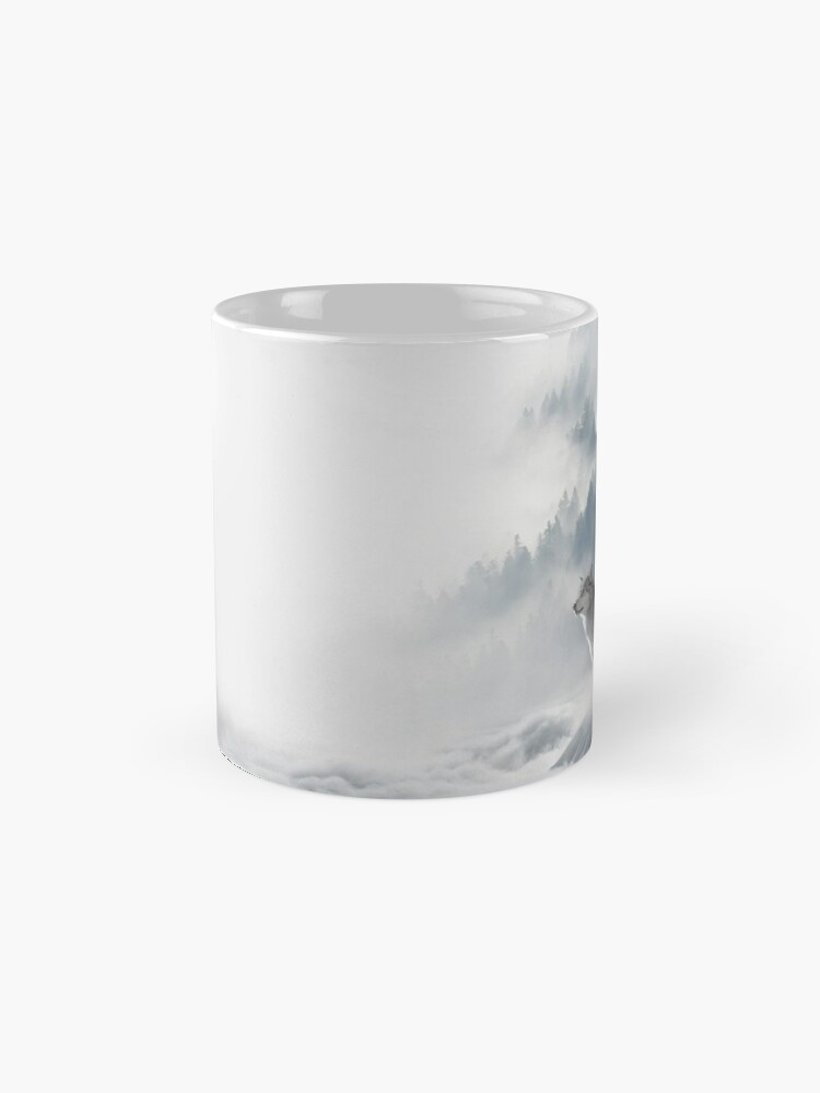 Alternate view of Wolves Snowscape Classic Mug