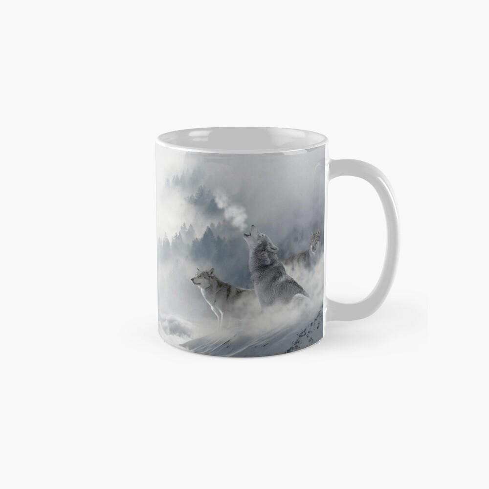 Wolves Snowscape Classic Mug