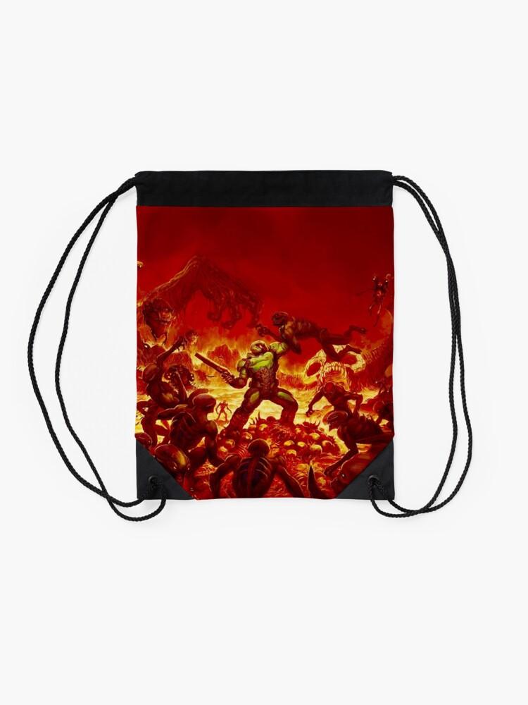 Alternate view of DOOM (2016) Alternate cover Drawstring Bag