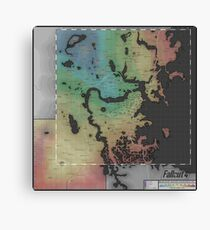 Fallout 4 Map Canvas Print
